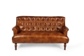 Daniel Leather Loveseat Settee