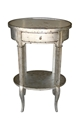 1-DRWR OVAL SLIVERLEAF LAMP TABLE