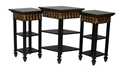 CARVED 3-TIER CONSOLE TABLE