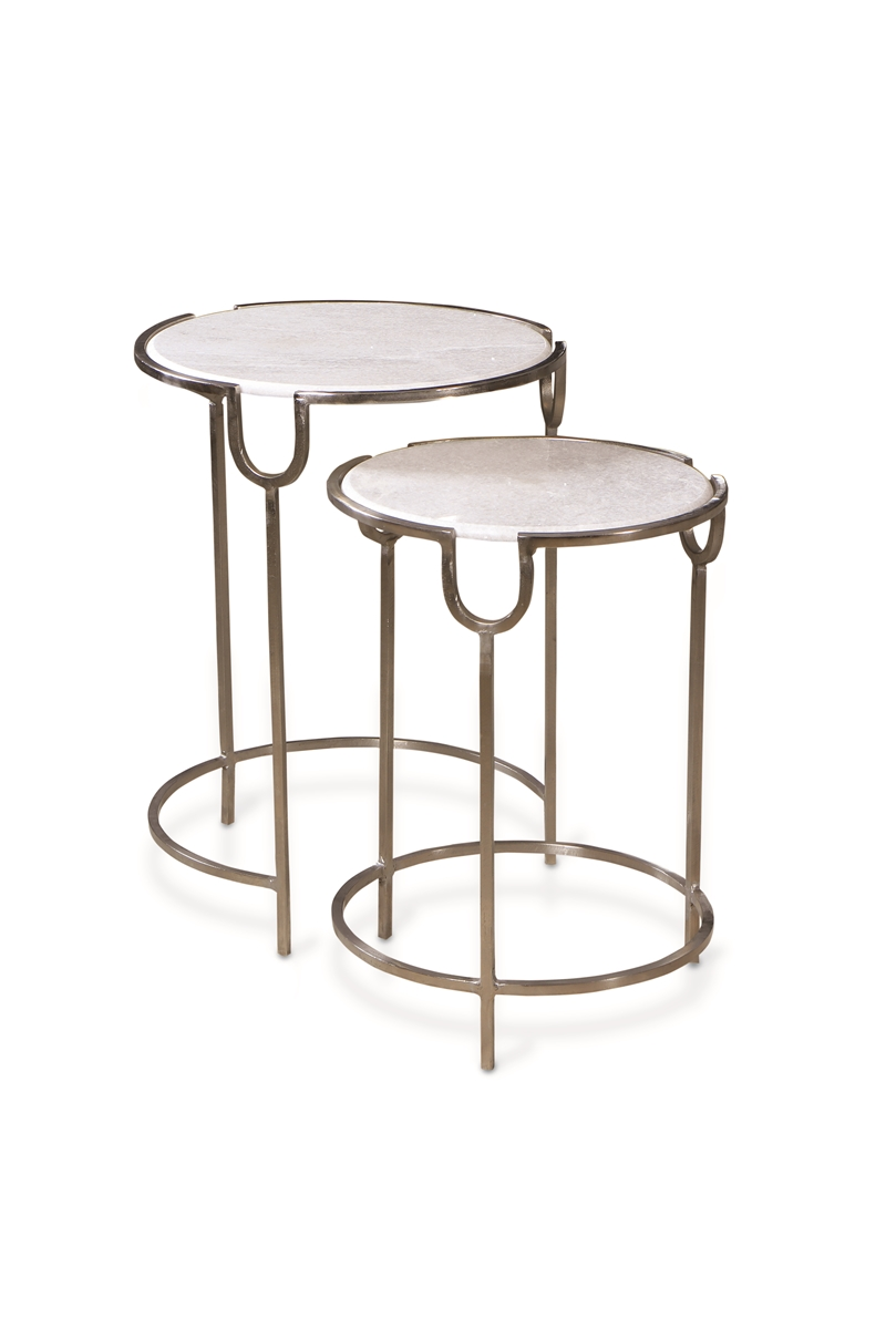 Circle Design Marble Top Tables